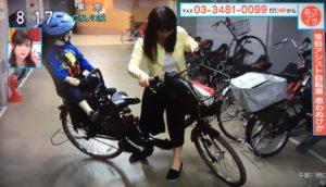 子ども乗せ自転車 駐輪場での転倒に気をつけて